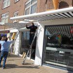 kwaliteit zonnescherm voor uw tuin terras of winkel vraag advies aan protectsun.nl