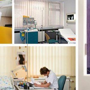 kantoor en woonkamer verticaal lamel gordijnen Protectsun Amsterdam