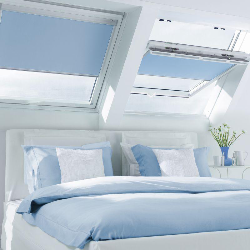 slaapkamer Sunway zonwering voor Velux Fakro dakramen vraag advies aan Protectsun.nl in Amsterdam