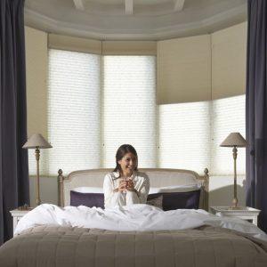 slaapkamer Sunway plissee zonwering en raamdecoratie vraag advies aan protectsun.nl