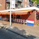 kwaliteit zonnescherm voor uw vis winkel tuin of terras vraag advies aan protectsun.nl