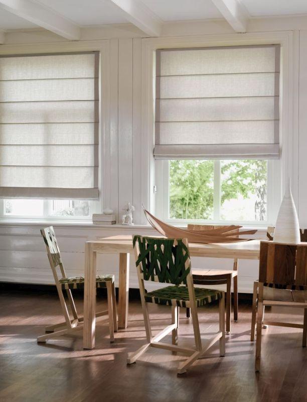 Vouwgordijnen en Roman blinds en Austrian shades bezoek Protectsun in Amsterdam