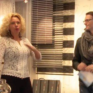 Diana in de Showroom Protectsun in Amsterdam west
