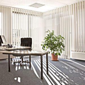kantoor verticaal lamel gordijnen Protectsun Amsterdam