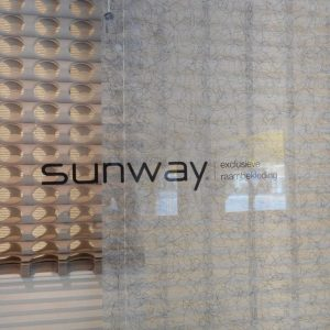 de Sunway collectie in de showroom van Protectsun in Amsterdam west www.protectsun.nl