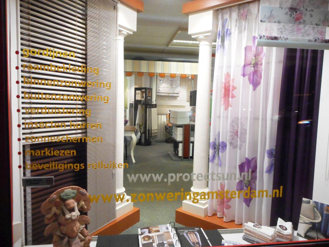 etalage-raam-Protectsun-zonwering-raamdecoratie-Amsterdam