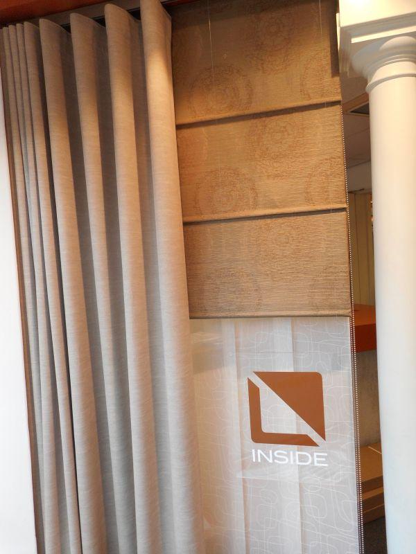 de Inside gordijnen en vitrage collectie in de showroom van Protectsun in Amsterdam west www.protectsun.nl