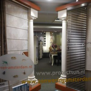 horren en jaloezie Sunway collectie in de showroom van Protectsun in Amsterdam west www.protectsun.nl