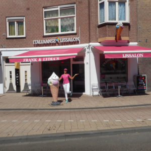 IJssalon Frank & Lydia zonnescherm Protectsun Amsterdam
