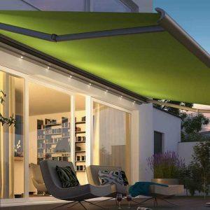 zonnescherm met verlichting voor uw tuin terras vraag advies aan protectsun.nl